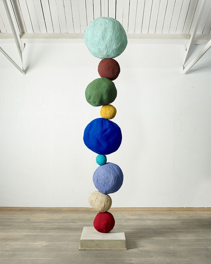 Stack 9, Copper Blue (2020), Annie Morris.