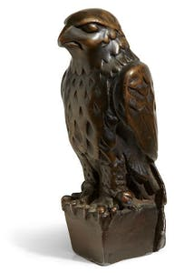 Lead statuette of the Maltese Falcon from the film of the same name, sold at Bonhams in November 2013 for $4m.