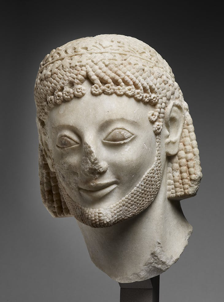 Head of a cavalier ('Payne-Rampin'; c. 570 BC), discovered at the Acropolis in Athens.