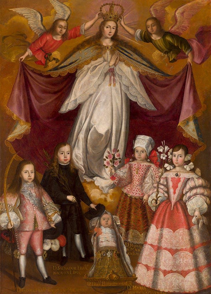 Virrey Conde de Lemos (c. 1672), virgen inmaculada partidaria del taller de Francisco de Escobar.