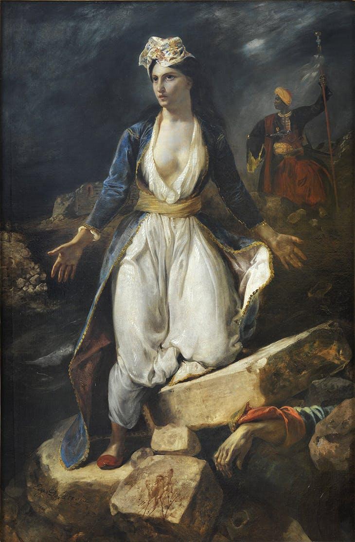 Greece on the Ruins of Missolonghi (1826), Eugène Delacroix.