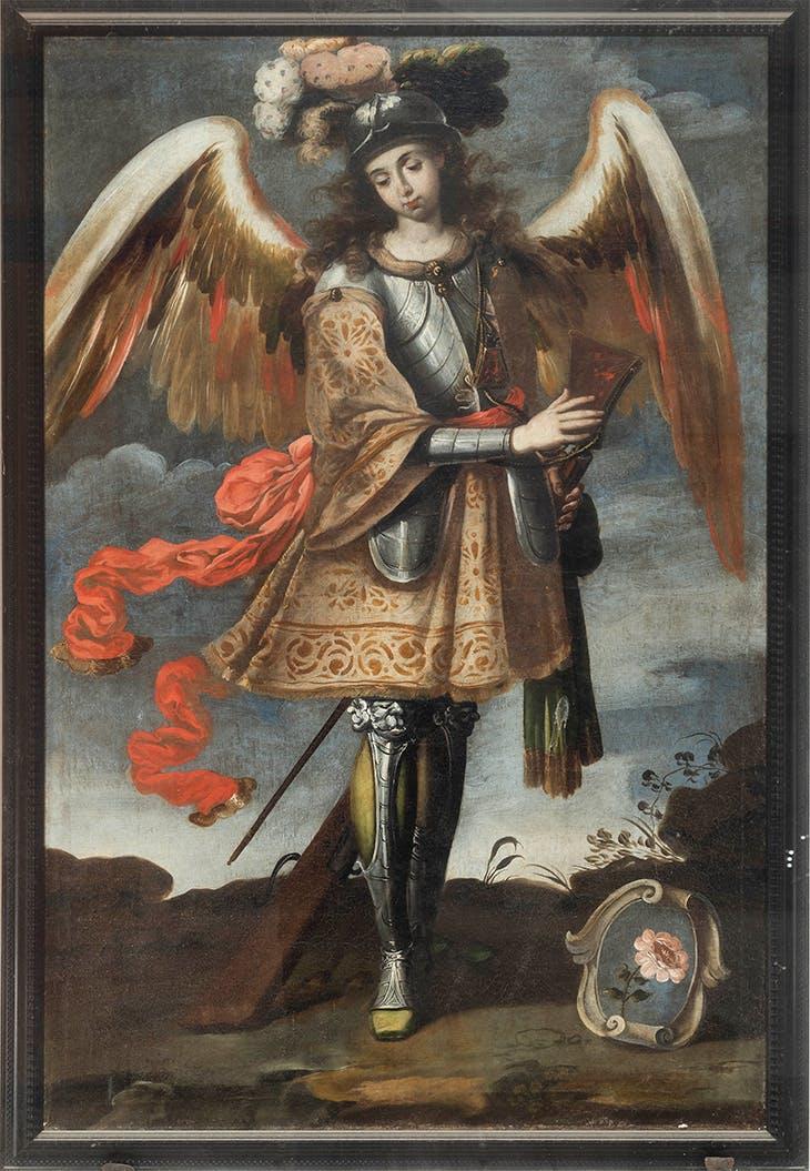 Marion Hercuffier Angel (c. 1760), Taller Peruano.