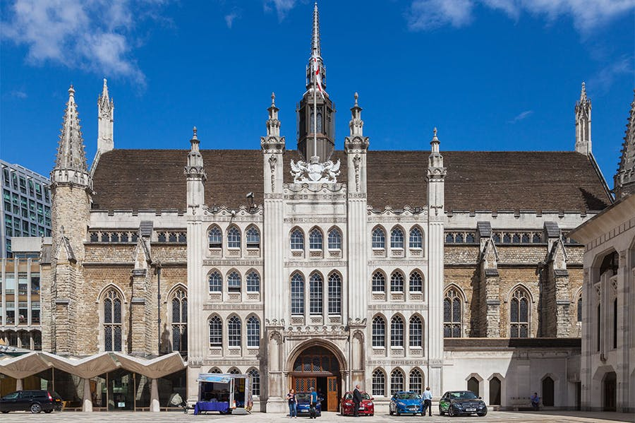 Guildhall in the City of London, photographed in 2014.