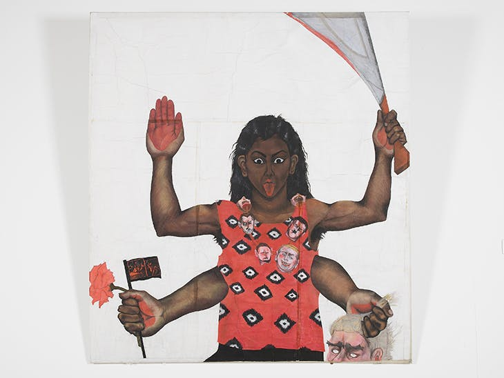 Housewives with Steak-Knives (1983–85), Sutapa Biswas.