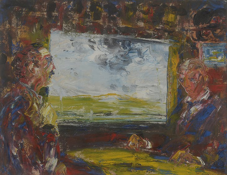 Looking Forward, Looking Back (1945), Jack B. Yeats. Private collection.