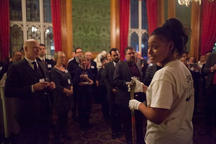 An event hosted by the Museum of Homelessness at the House of Lords in 2019.