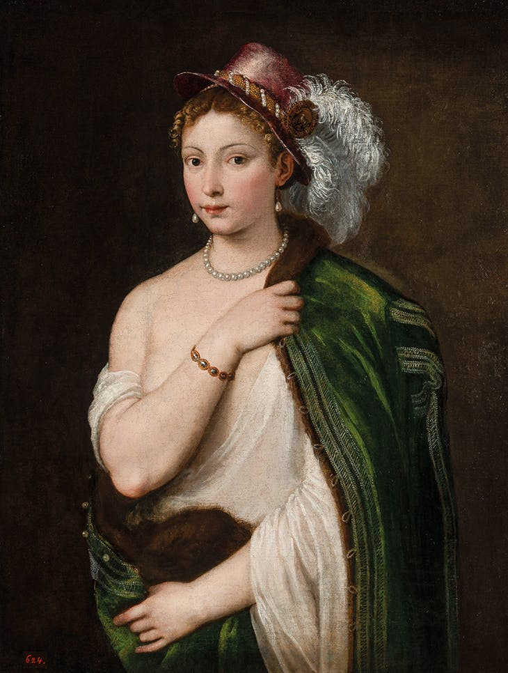Woman with a Plumed Hat (1534–36), Titian.