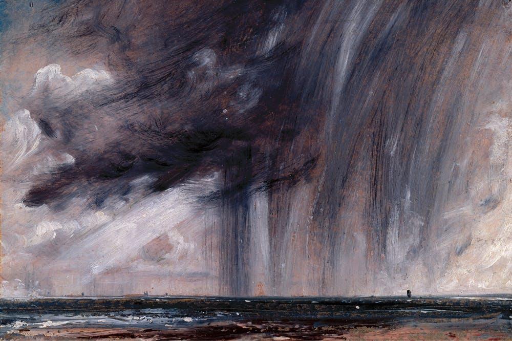 Rainstorm over the Sea (c. 1824–28), John Constable.