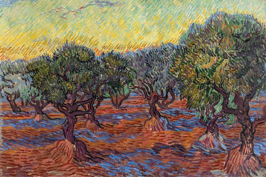 Olive Grove, Saint-Rémy (detail; 1889), Vincent van Gogh.