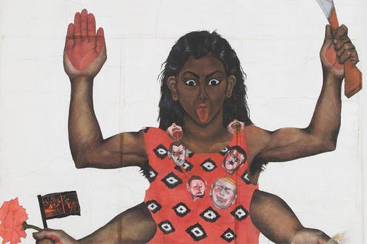 Housewives with Steak-Knives (detail; 1983–85), Sutapa Biswas.