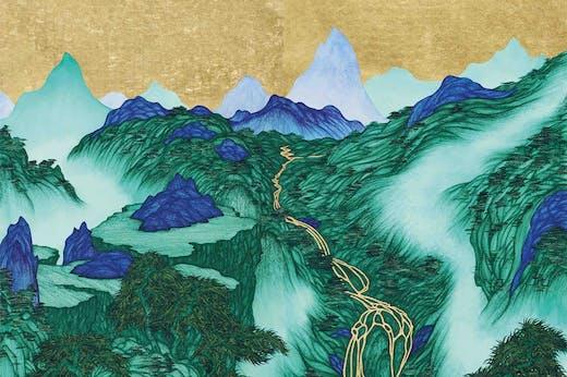 Good Times: Lion Leopard Lake (detail; 2020), Yao Jui-chung. Michael Goedhuis (price on application)