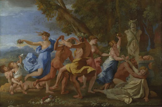 A Bacchanalian Revel before a Term (detail; 1632–33), Nicolas Poussin. The National Gallery